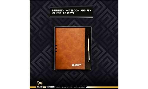 giveaways  ( pen - notebook )