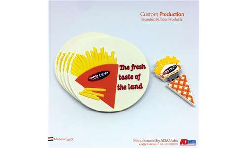 Designing and manufacturing rubber flash memory and coaster