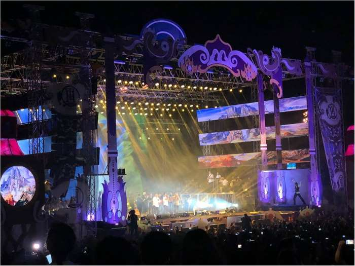 On stage production for Tamer Hosny 15th Anniversary New Alamen 2019
